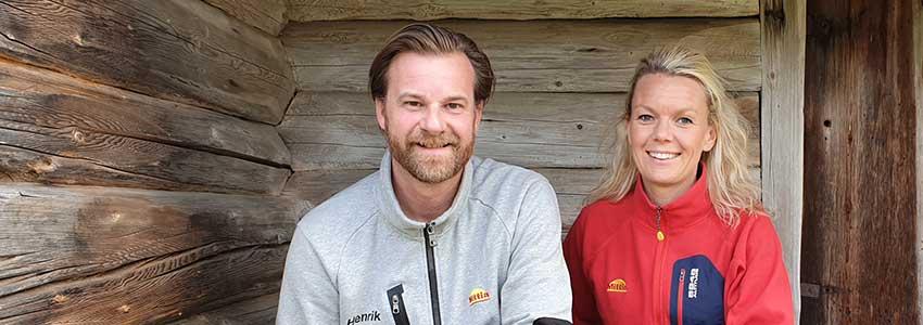 Henrik Bruveris och Ulrica Carlström